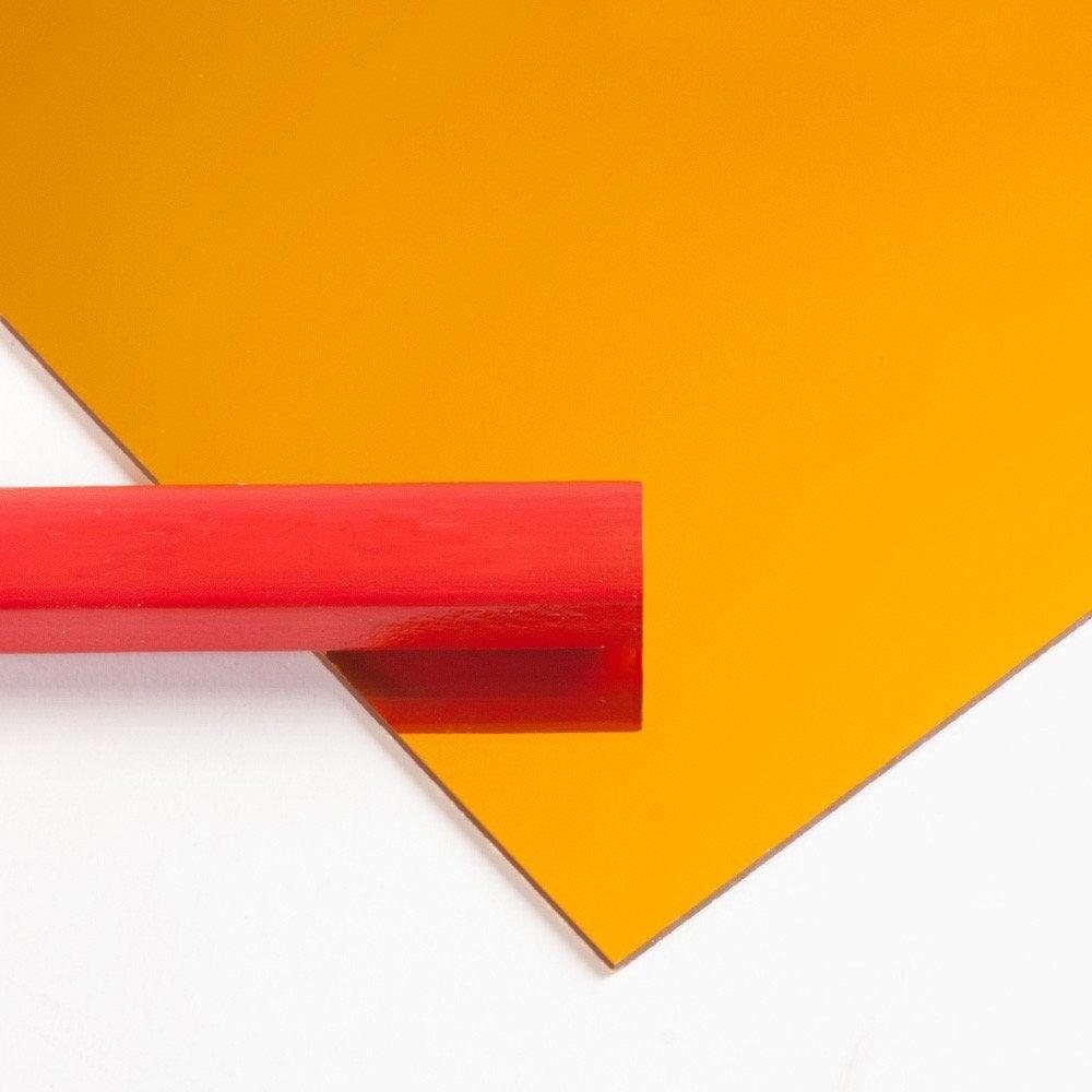 plaque polystyrène 1 mm jaune brillant l297 x 42 cm
