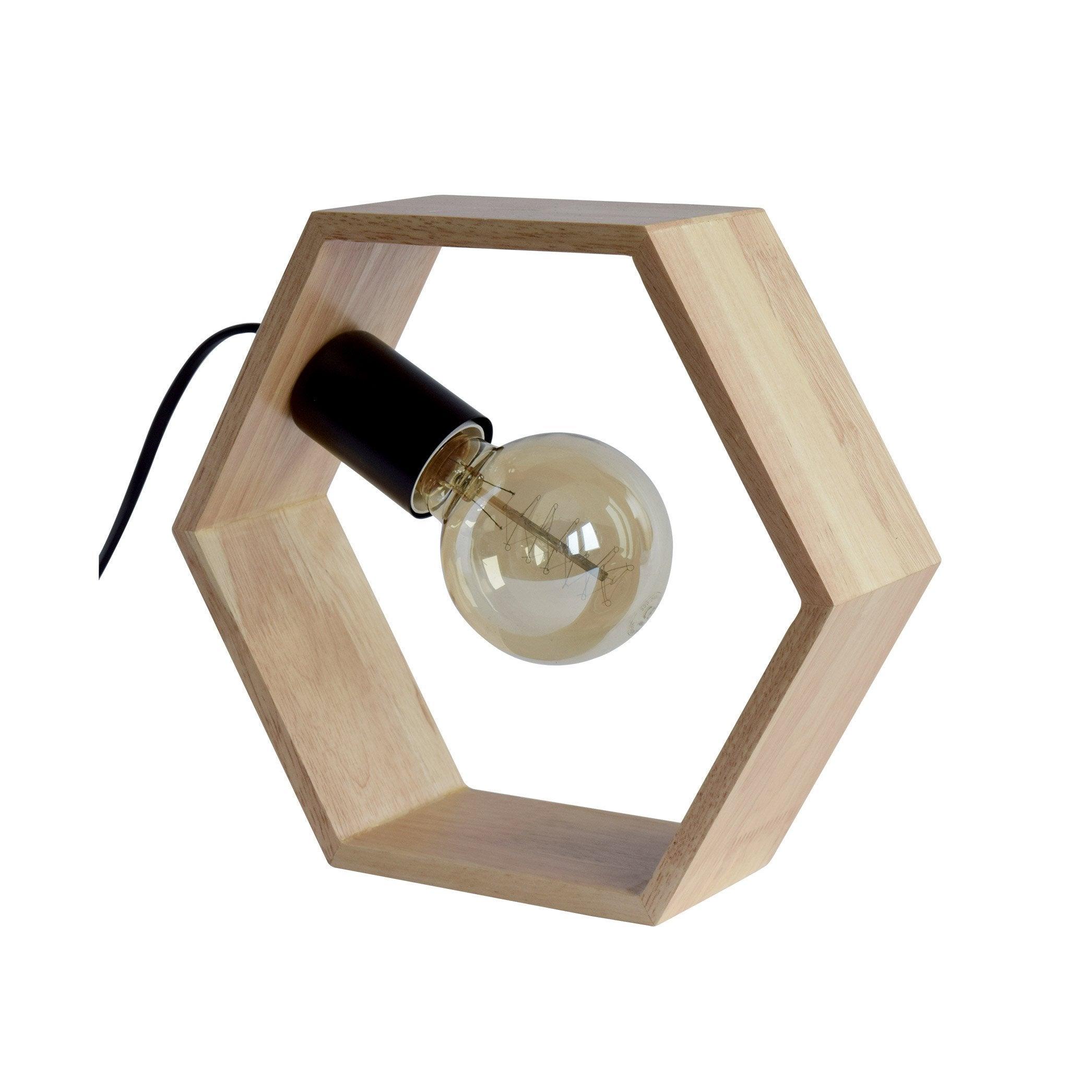 ClairSeynave Hexagonale Chêne Factory LampeScandinaveBois Yb7v6gyf