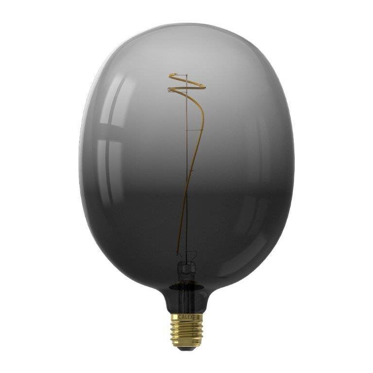 Ampoule décorative led noir Globe 180 mm E27 80 Lm = 40 W noir, CALEX