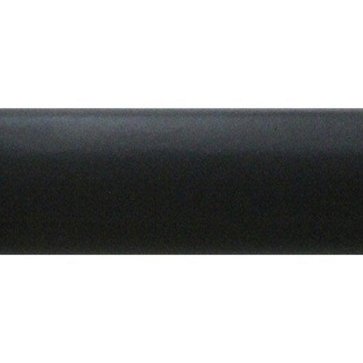 Tringle à rideau Jeune Habitat, bois, gris laqué, diam. 20 mm, long. 100 cm