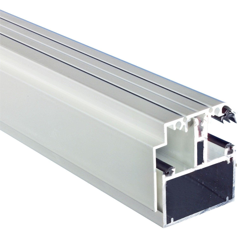 kit rive portante pour plaque ep 16 32 mm blanc laqu l. Black Bedroom Furniture Sets. Home Design Ideas