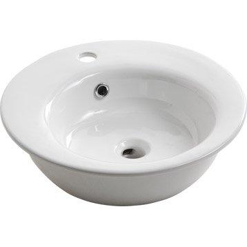Vasque à poser Soap en céramique 47.5 x 47.5 cm