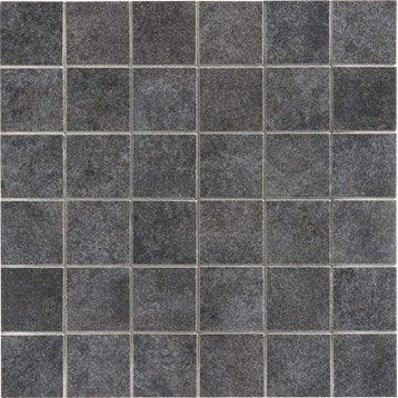 mosaïque et galets pour carrelage de salle de bains | leroy merlin - Mosaique Noire Salle De Bain