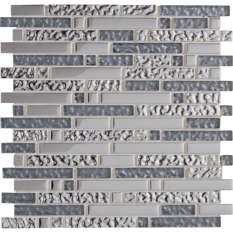 Mosaique Mur Ice Tendance Gris 15