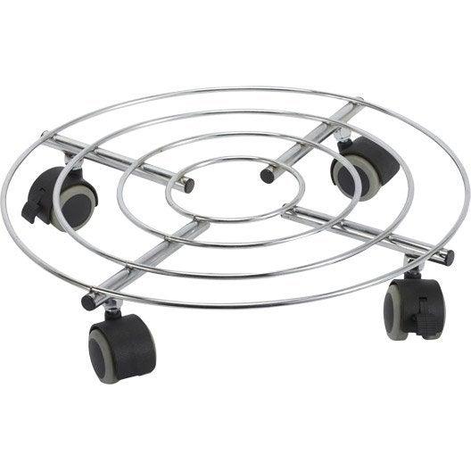 Support roulant plateau roulant roulette au meilleur prix leroy merlin - Support a roulettes pour plantes ...