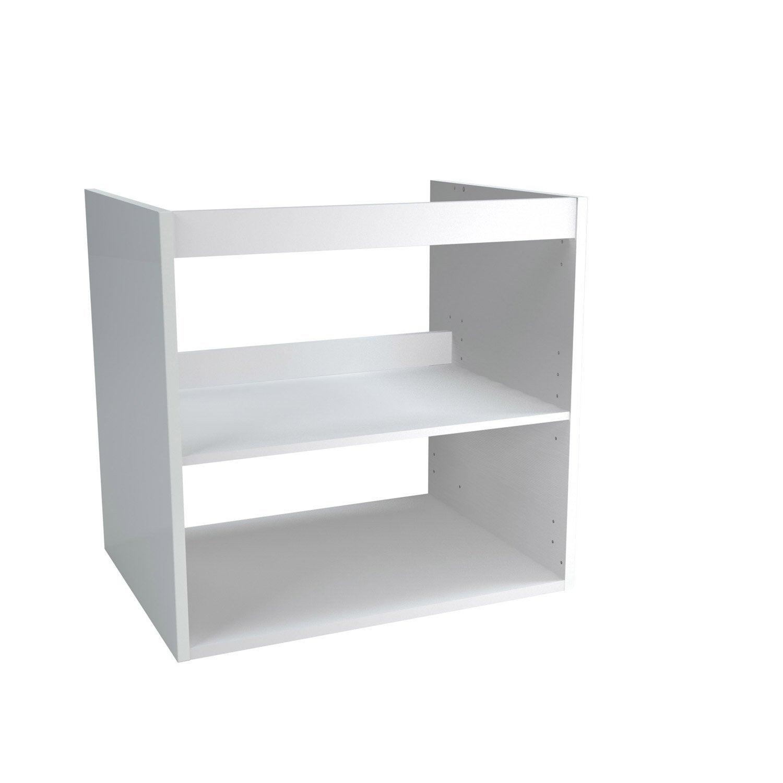 Caisson meuble sous vasque l 60 x H 57 7 x P 46 cm Remix