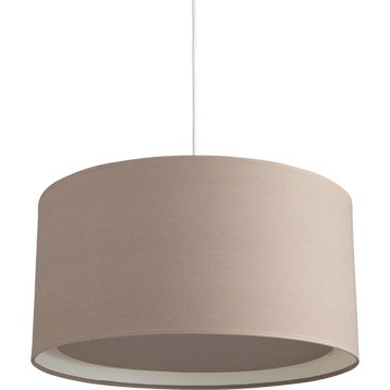 Suspension Essentiel INSPIRE, brun taupe n°3, 60 watts, diam. 39 cm