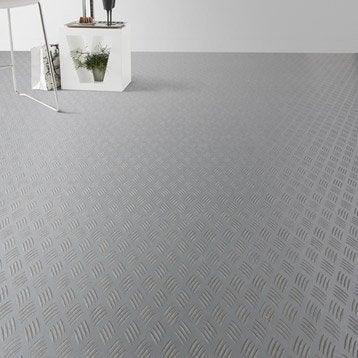Sol PVC gris métal métal brut, ARTENS Reflex l.4 m