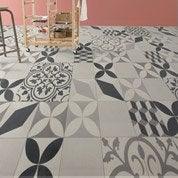 Sol PVC gris shalimar, ARTENS Textile l.4 m