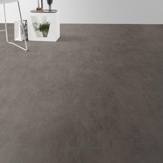 Sol PVC gris madras, ARTENS Textile l.4 m