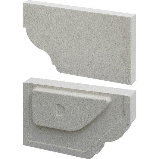 Corniche cr profil quart de rond bouchon droit blanc for Quart de rond polystyrene