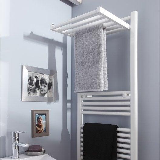 S che serviettes eau chaude acier deltacalor stendino blanc 570 w leroy me - Seche serviettes eau chaude ...