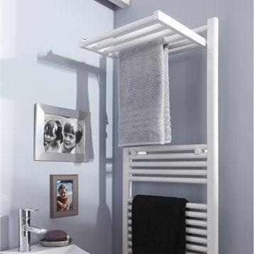 Sèche-serviettes eau chaude acier DELTACALOR Stendino blanc, 570 W