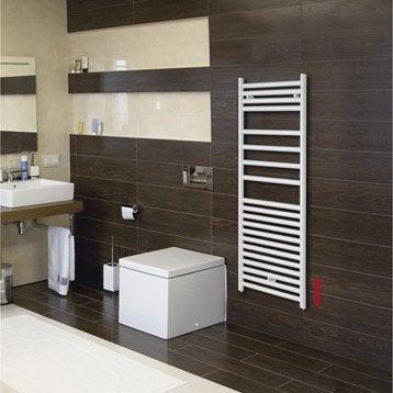 Sèche-serviettes eau chaude acier ACOVA Angora blanc, 460 W