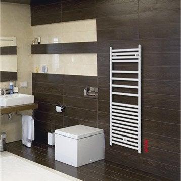 Sèche-serviettes eau chaude acier ACOVA Angora blanc, 615 W