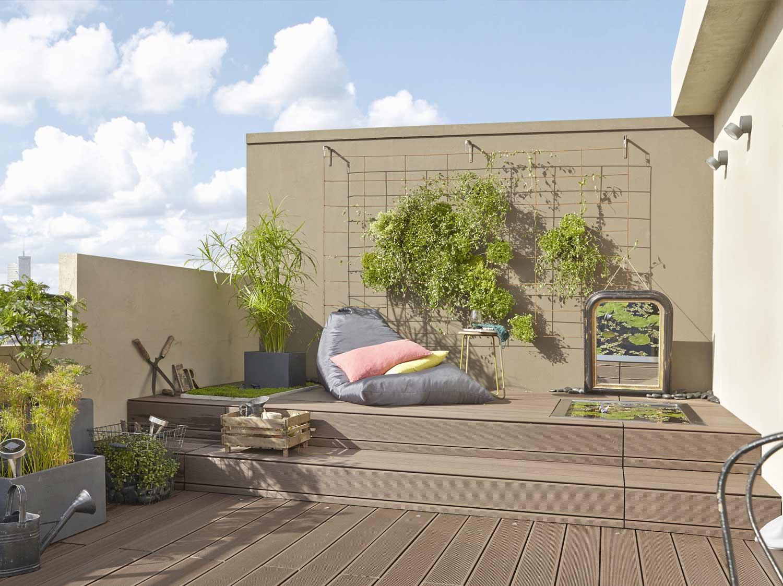du rangement au jardin leroy merlin. Black Bedroom Furniture Sets. Home Design Ideas