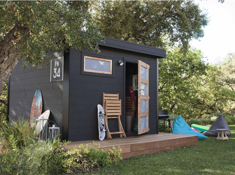 Cabane Jardin Palette Avec Maison De Jardin Pour Petite Fille ...
