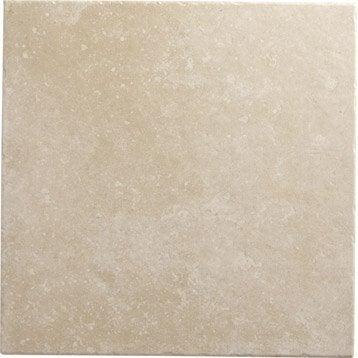 Carrelage sol et mur beige rosé effet pierre Perigueux l.45 x L.45 cm