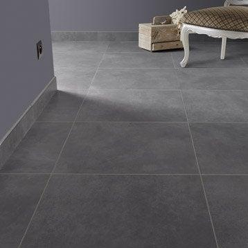 Carrelage sol et mur gris smoke effet béton Live l.49 x L.49 cm