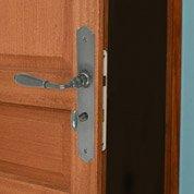 2 poignées de porte Nevers condamnation / décondamnation INSPIRE, fer, 195 mm