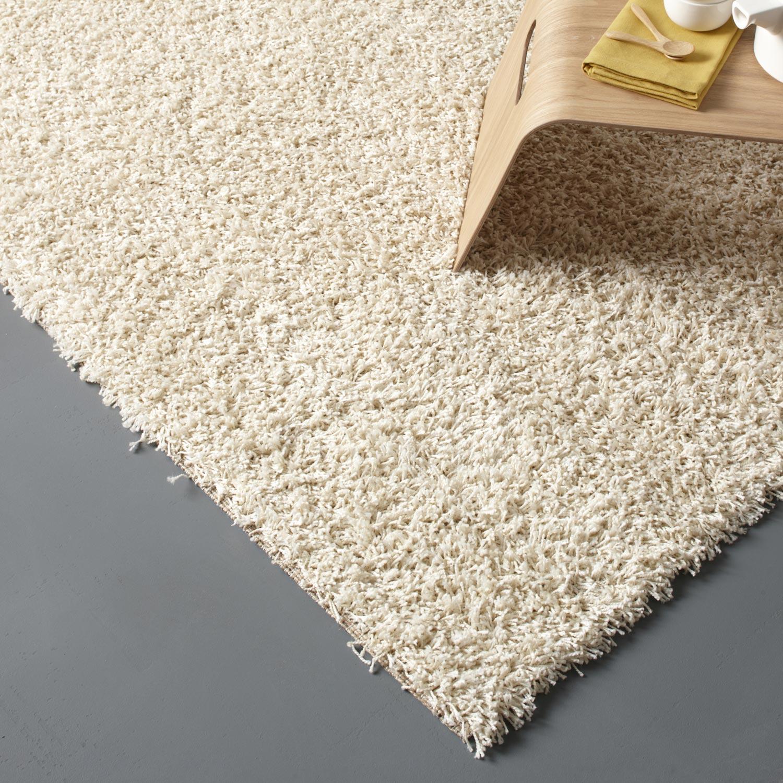 tapis beige shaggy pop l160 x l230 cm - Tapis Beige