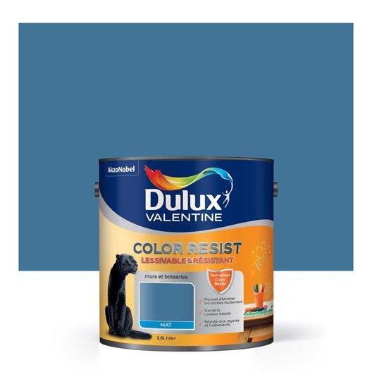 Peinture zinc bleu dulux valentine color resist 2 5 l leroy merlin for Peinture couleur zinc