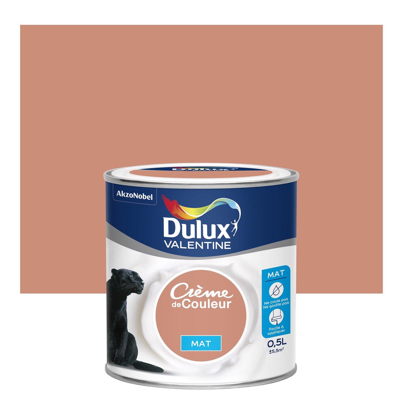 peinture cuivre rose mat dulux valentine crme de couleur 05 l