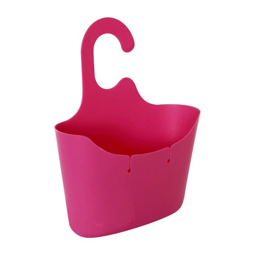 Panier de bain douche  suspendre rose shocking n°2 Play s