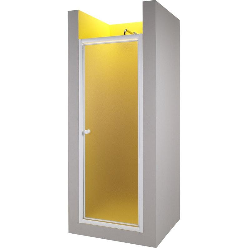 Porte de douche pivotante 90 cm granit primo leroy merlin - Porte de douche 90 ...