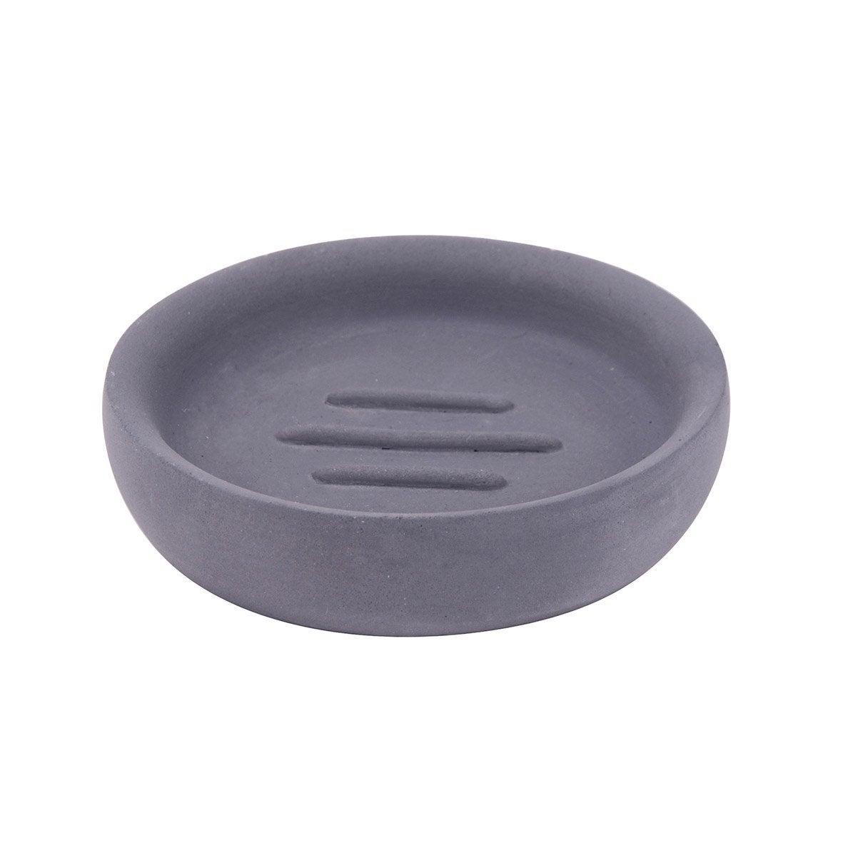 Porte-savon béton Apollon, gris foncé