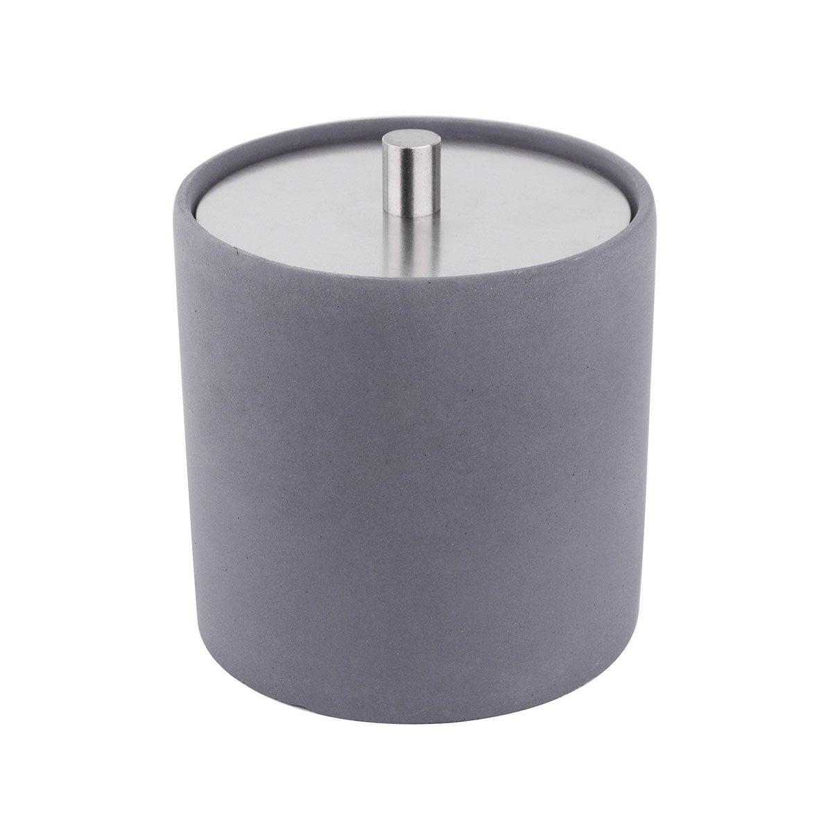 Boîte à coton ciment M apollon dark, gris foncé