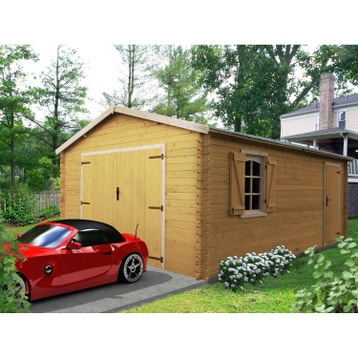 Garage carport abri voiture au meilleur prix leroy merlin for Abri voiture bois brico depot