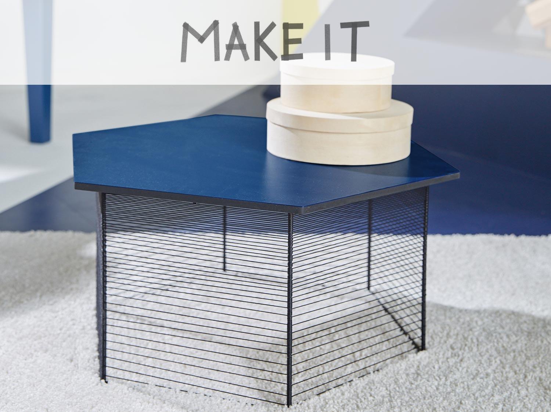 diy fabriquer une table basse hexagonale. Black Bedroom Furniture Sets. Home Design Ideas