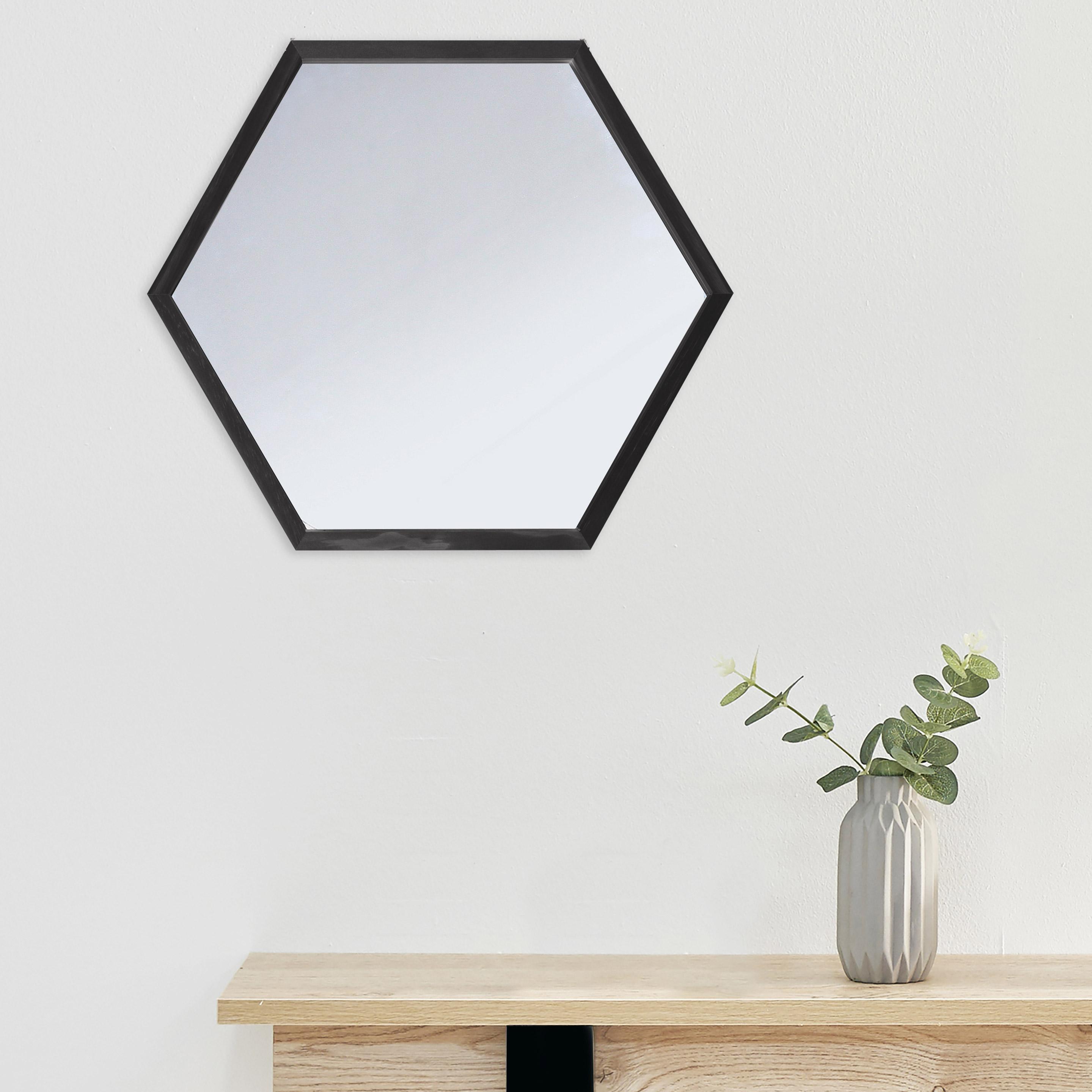Miroir Carelie, noir, l.45.7 x H.39.7 cm