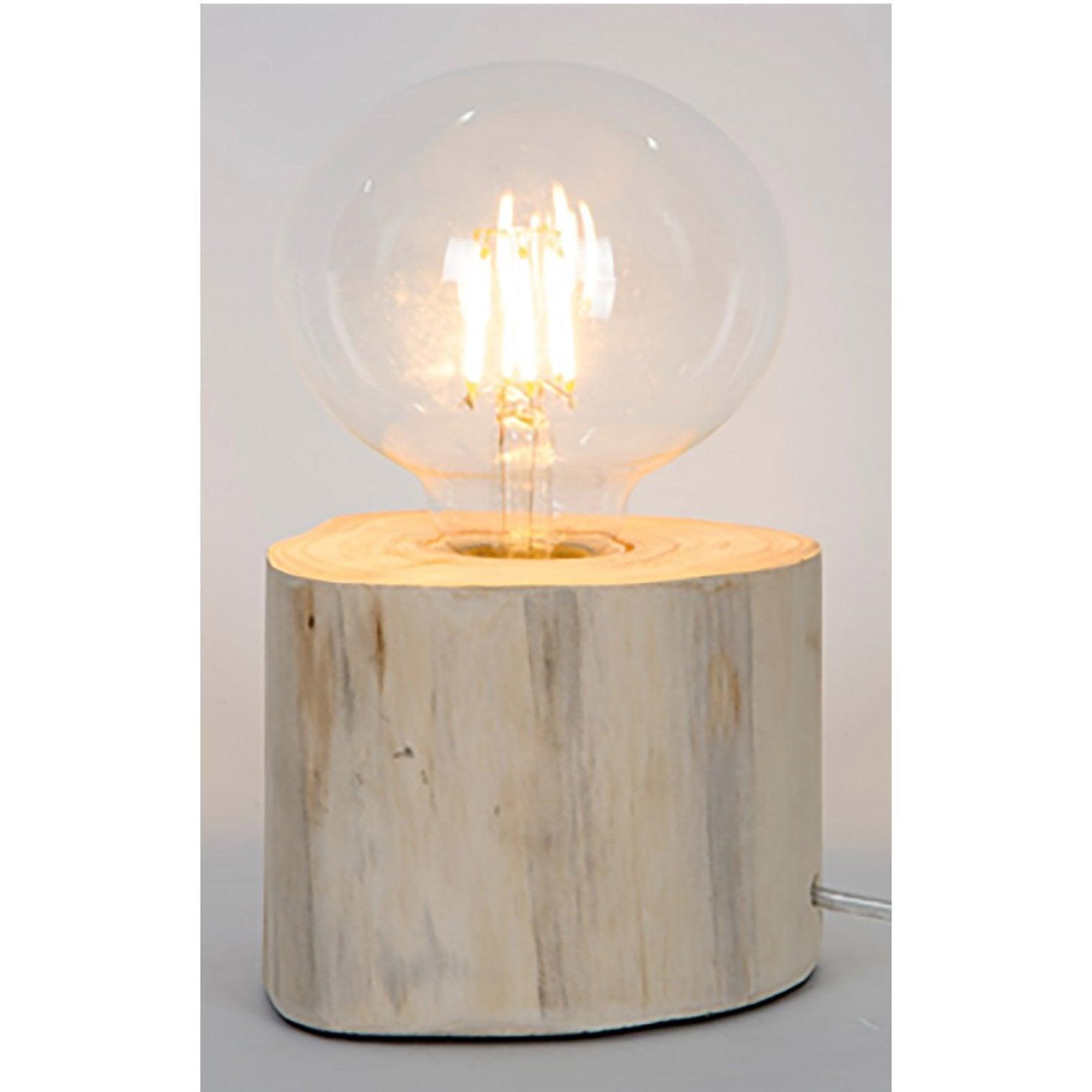 Lampe, charme romantique, bois, SAMPA HELIOS Pam
