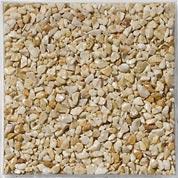Graviers solance en pierre naturelle, jaune, 2.5/5 mm, 25 kg