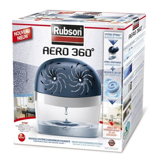 absorbeur d 39 humidit une recharge a ro 360 rubson 40 m leroy merlin. Black Bedroom Furniture Sets. Home Design Ideas