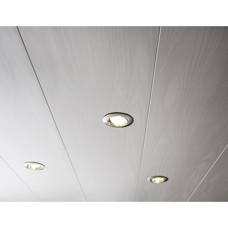lambris pvc blanc artens l.400 x l.25 cm x ep.10 mm | leroy merlin - Lambris Bois Plafond Salle De Bain