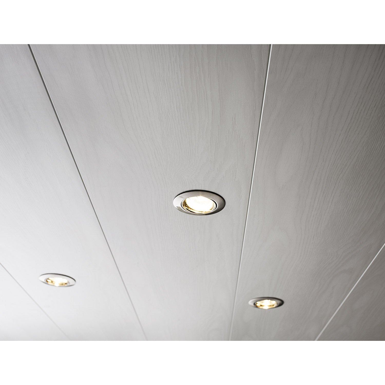 Lambris PVC Décors Frêne Blanc ARTENS L X L Cm X Ep Mm - Lambris pvc salle de bain plafond