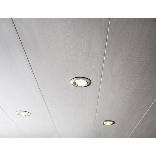 Lambris pvc blanc artens x cm x mm leroy merlin - Plafond lambris blanc ...