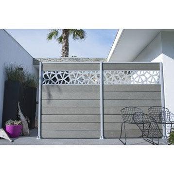 panneau composer panneau barri re et palissade bois composite leroy merlin. Black Bedroom Furniture Sets. Home Design Ideas