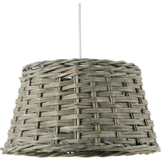 suspension e27 campagne bocage saule gris 1 x 52 w mathias leroy merlin. Black Bedroom Furniture Sets. Home Design Ideas