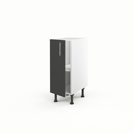 Meuble de cuisine bas gris 1 porte rio x x - Meuble bas cuisine profondeur 30 cm ...