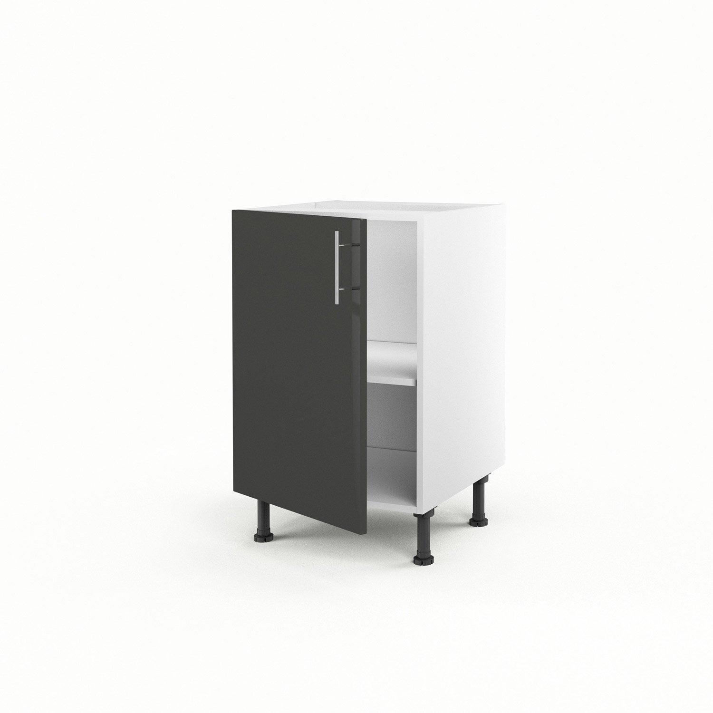 meuble de cuisine bas gris 1 porte rio x x cm leroy merlin. Black Bedroom Furniture Sets. Home Design Ideas
