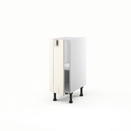 Meuble de cuisine bas ivoire 1 porte karrey x x for Meuble bas 30 cm cuisine