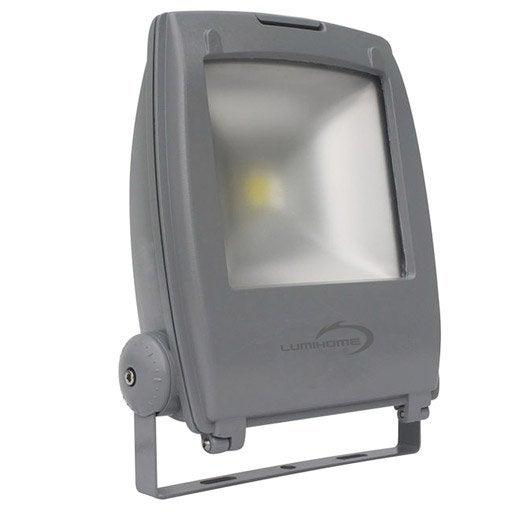 Projecteur fixer ext rieur cob led int gr e gris - Led exterieur leroy merlin ...