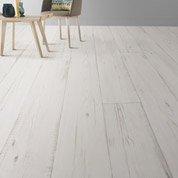 Sol PVC blanc keywest, ARTENS Textile l.4 m