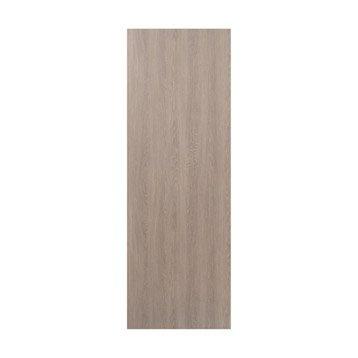 Porte coulissante revêtu décor chêne blanchi Palma, 204 x 73 cm