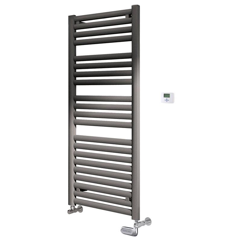 s che serviettes eau chaude acier equation concept gris 424 w leroy merlin. Black Bedroom Furniture Sets. Home Design Ideas