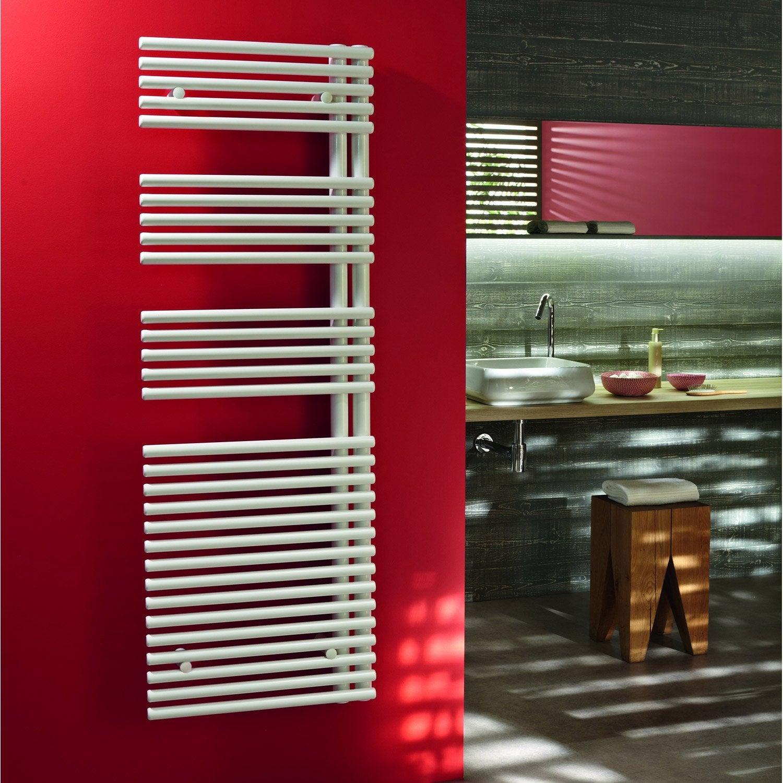 s che serviettes eau chaude acier acova manilla asym trique blanc 672 w leroy merlin. Black Bedroom Furniture Sets. Home Design Ideas